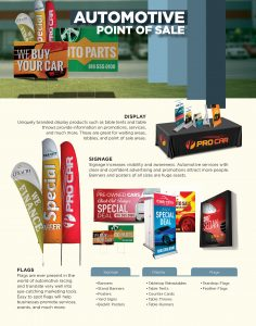 Image - flyer of print products for automotive businesses by Digital Marketing Partner