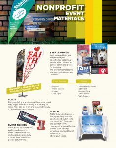 Image - flyer of print products for nonprofits by Digital Marketing Partner