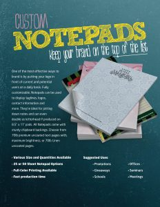 Image - flyer for notepads by Digital Marketing Partner