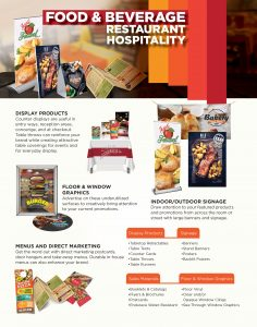 Image - flyer of restaurant and bar print products by Digital Marketing Partner