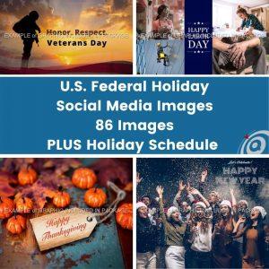 Produce image - U.S. Federal Holidays Graphics by Digital Marketing Partner